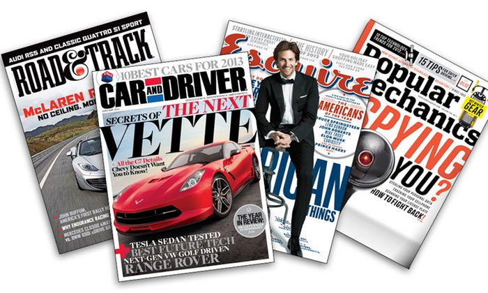 "Car and Men's Style Magazines : ""Esquire,"" ""Car and Driver,"" ""Road & Track,"" and ""Popular Mechanics"" Subscriptions (Up to 58% Off). Free Shipping."