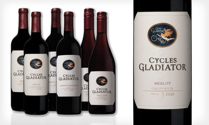 Cycles Gladiator Red Wine: 6 or 12 Bottles of Cycles Gladiator Red Wine (Up to 40% Off). Shipping Included.
