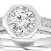 1.15 CTTW Modern Diamond Engagement Bezel Ring in 14K White Gold