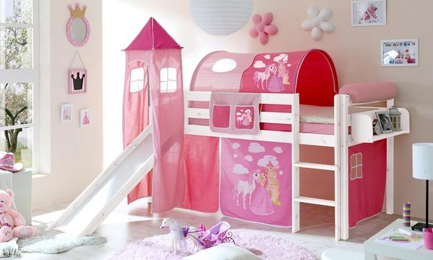 Lit sur lev pour enfant avec accessoires groupon - Lit chateau pour petite fille ...