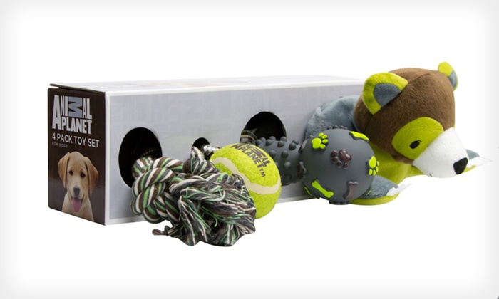 Four-Pack of Animal Planet Dog Toys: $14 for a Four-Pack of Animal Planet Dog Toys ($39.99 List Price). Free Returns.