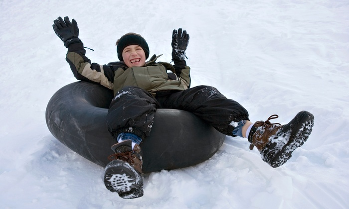 The Beach Mountain - Mason: Snow Tubing and Hot Chocolate for One, Two, or Four at Beach Mountain (Up to 37% Off)