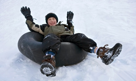 Friday Cosmic Snow-Tubing Adventure with Rental Gear and Hot Cocoa for 2 or 4 at Diamond Lake Resort (46% Off)