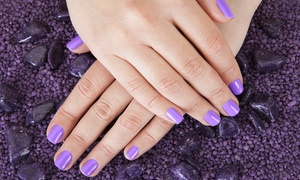 Studio 30 Nails: $29 for Hot Stone Shellac Manicure at Studio 30 Nails ($53 Value)