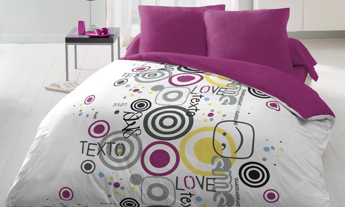 housse de couette et taies d 39 oreiller groupon shopping. Black Bedroom Furniture Sets. Home Design Ideas