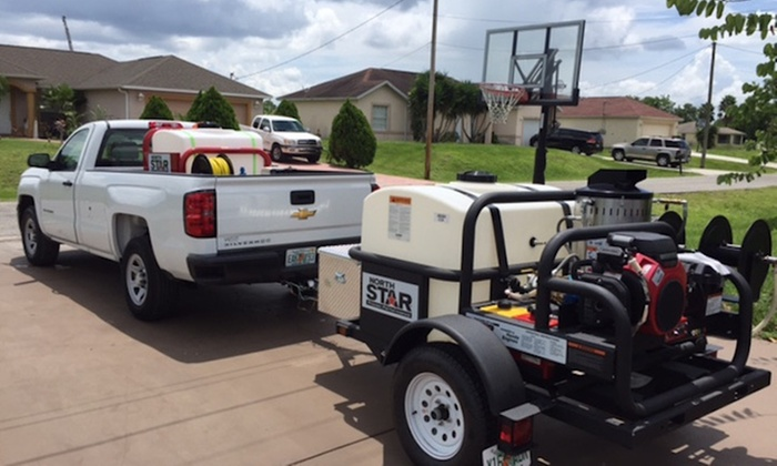A T Precision Pressure Washing - Fort Myers / Cape Coral: Sidewalk or Concrete Pressure Washing from A T Precision Pressure Washing (55% Off)