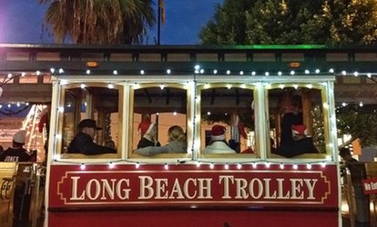 image for One Child or Adult Ticket to the Holiday Waterfront Tour of Lights from Long Beach Trolley (48% Off)