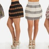 Women's Printed Structured Skirt