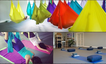 image for Up to 70% Off Yoga and Aerial Yoga <strong>Classes</strong> at Elevate Yoga Center