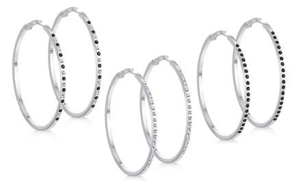 One or Two Pairs of Large Hoop Earrings