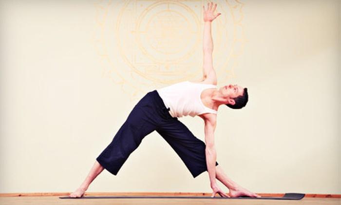 YoGuy Men's Yoga - Multiple Locations: $20 for 20 Classes at YoGuy Men's Yoga ($235 Value)