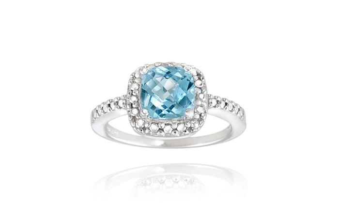 2.15-Carat TW Gemstone and Diamond Ring: 2.15-Carat TW Gemstone and Diamond Ring