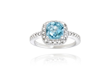 2.15-Carat TW Gemstone and Diamond Ring