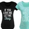 Short-Sleeve Patterned Maternity T-Shirt