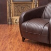 Ross Brown Leather Club Chair