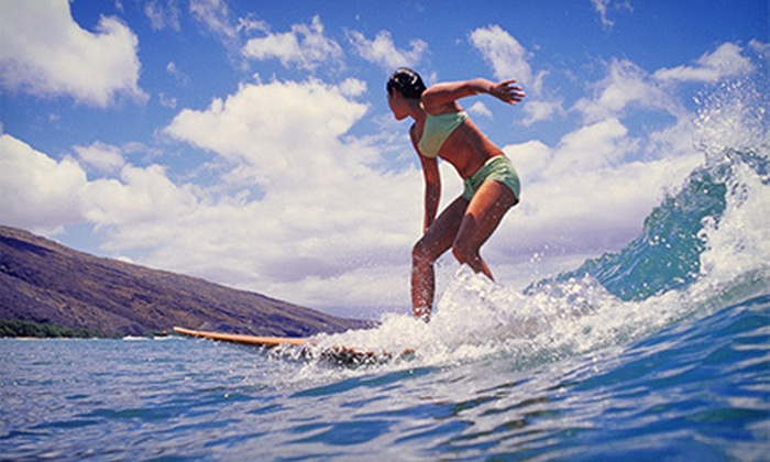 Hook up Surfing - Honolulu: Two-Hour Group or Private Group Surf or Paddleboard Lesson from Hook up Surfing (Up to 51% Off)