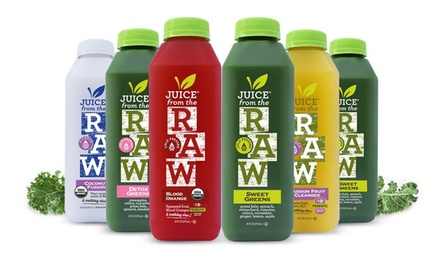 3-Day Organic Juice Cleanses from Juice from the Raw (Up to 63% Off). Three Options Available.