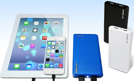Aduro PowerUp 10,800mAh Leather Backup Portable Battery 2-Pack