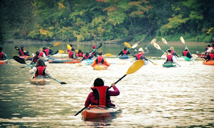 Toronto Adventures Inc. - Toronto: Kayak or Canoe Lesson and Rental for Up to Five People from Toronto Adventures Inc. (50% Off). Four Options Available.