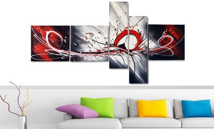 Gallery Wrapped Multipanel Handpainted Abstract Painting