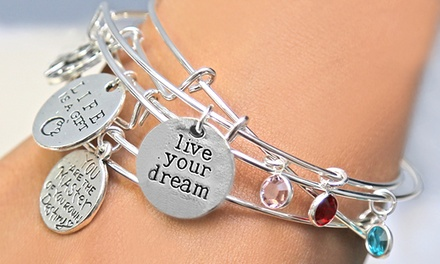 Bangle with Personalized Swarovski Birthstone from Monogram Online (Up to 83% Off)