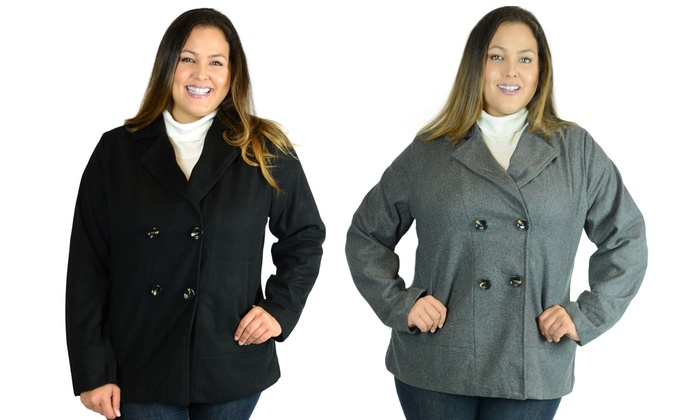 3670f9446cd Women s Plus Size Peacoat
