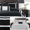 6-Piece Hotel Reversible Geometric Comforter Set