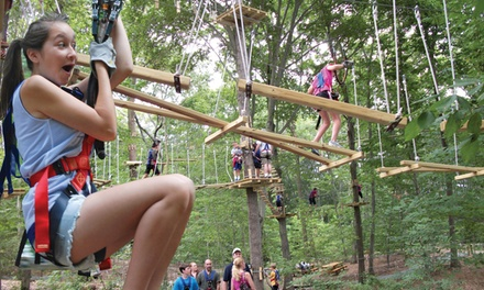 Climbing and Ziplining for One, Two, Four or Six at The Adventure Park at Virginia Aquarium (Up to 26% Off)