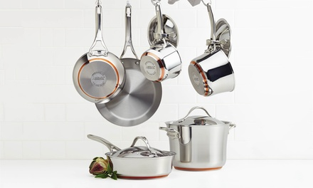 Anolon Nouvelle Copper 10-Pc. Cooking Set