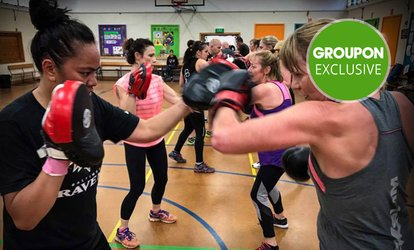 One-Month Class Pass with Gear for One ($19) or Two People ($38) at BoxSlim, Two Locations (Up to $320 Value)