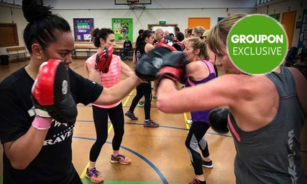 One Month Class Pass with Gear for One ($19) or Two People ($38) at BoxSlim, Two Locations (Up to $320 Value)