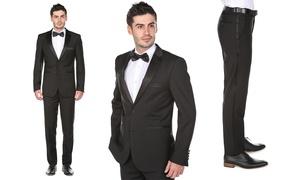 Gino Vitale Men's 2-Piece Classic- or Slim-Fit Notch Lapel Tuxedo