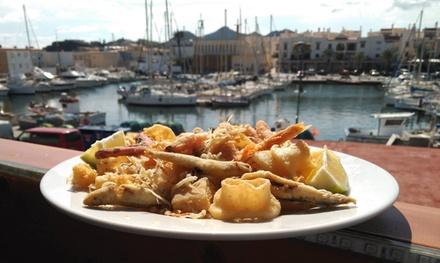Menú con Caldero del mar Menor para 2 o 4 personas, entrante, postre y bebida desde 24,99 € en El pequeño Grumete