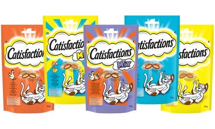 Fino a 18 confezioni di croccantini per gatti Catisfactions disponibili in vari gusti
