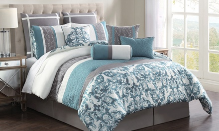 Adeline 10-Piece Embroidered Comforter Set