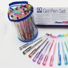 Strokes Art Supplies Gel-Ink Pen Set (60-Piece) with Carrying Case