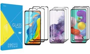 Lot 2 verres trempés Samsung Huawei