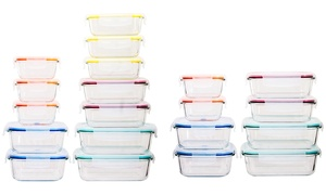Wexley Home Glass Food Storage Set (16- or 24-Piece)