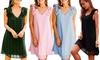 Sommerliches Damen-Kleid aus Baumwoll-Mischung