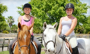 Boca Riding Club: Trail Ride for Two, One Private or Semiprivate Riding Lesson, or Saturday Pony Camp at Boca Riding Club (Up to 51% Off)