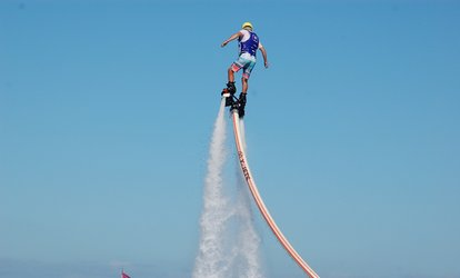 Session de flyboard ou flyblade