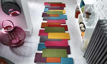 bunter teppich aus wolle groupon. Black Bedroom Furniture Sets. Home Design Ideas