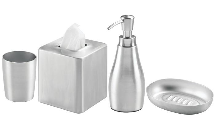 Set 4 accessoires salle de bain | Groupon