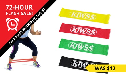 Set of Four Fitness HeavyDuty Resistance Loop Bands: One $9.95 or Two $16