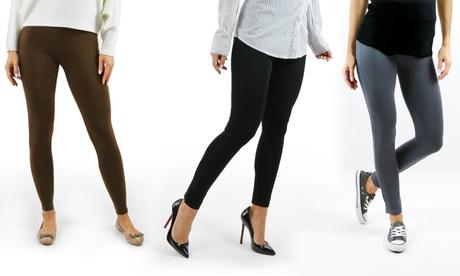 Sociology Women's Ponte Leggings (3-Pack) | Groupon Exclusive