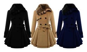 (Mode)  Manteau femme avec nœud Daisy -46% réduction