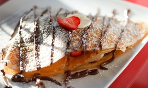Up to 48% Off Crepes and Drinks at Cafe Crepes at Cafe Crepes, plus 6.0% Cash Back from Ebates.