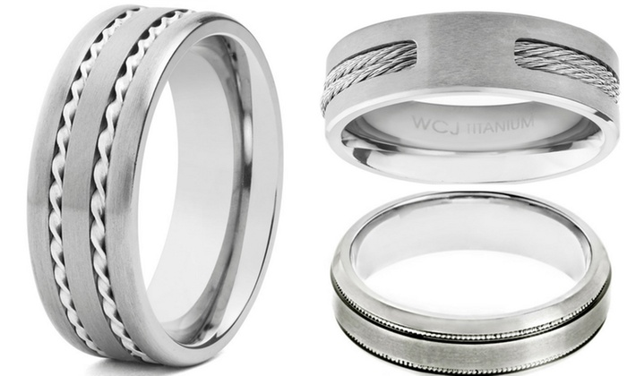 Clearance: Men's Titanium Wedding Bands: Clearance: Men's Titanium Wedding Bands