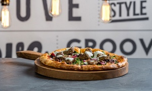 Groove Train Southland: Pizza, Pasta or Salad Lunch + Wine or Beer for Two ($29) or Four ($55) at Groove Train Southland (Up to $152 Value)