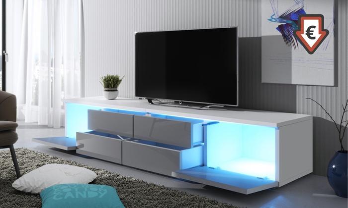 tv meubel met led verlichting groupon goods